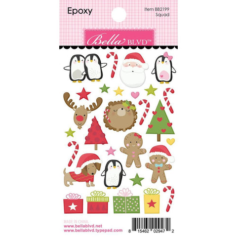Bella Blvd Santa Squad Epoxy Stickers - Icons