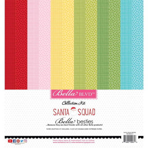 Bella Blvd Besties D/Sided Paper Pad - 12 inchX12 inch 12 pack - Santa Squad
