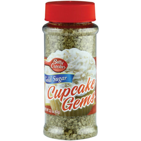 Betty Crocker Cupcake Gems 2oz Gold Sugar