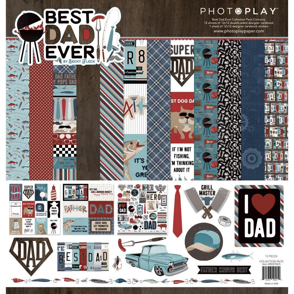 PhotoPlay Collection Pack 12 inch X12 inch Best Dad Ever