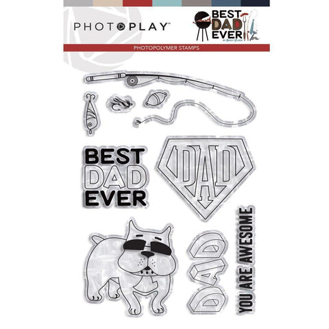 PhotoPlay Photopolymer Stamp - Best Dad Ever