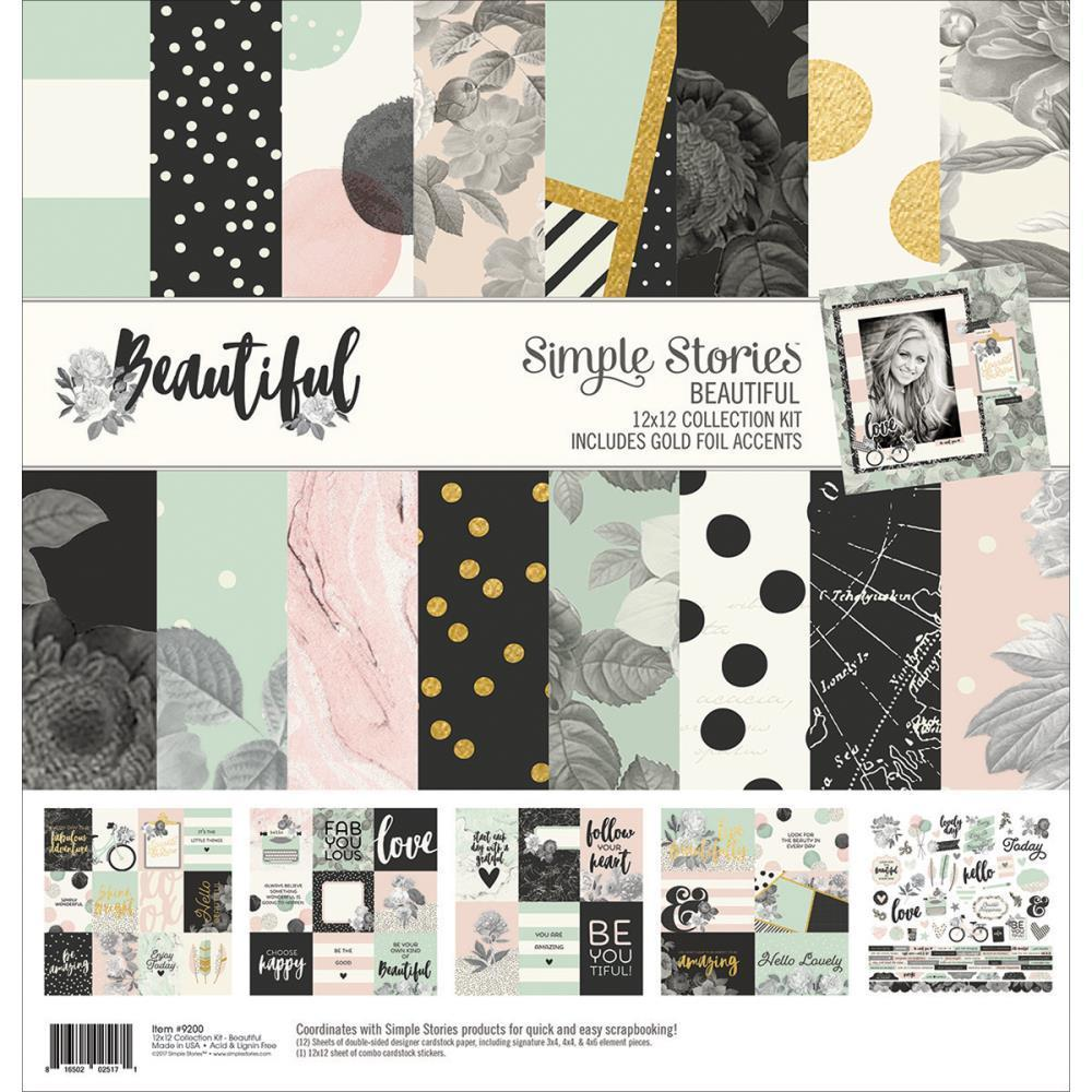 Simple Stories Collection Kit 12x12 Inch - Beautiful