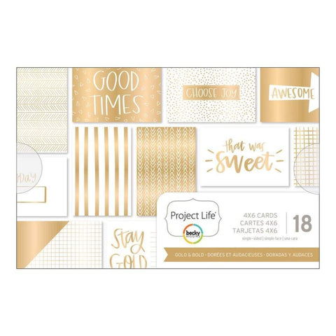 Becky Higgins - Project Life Themed Cards - Gold & Bold
