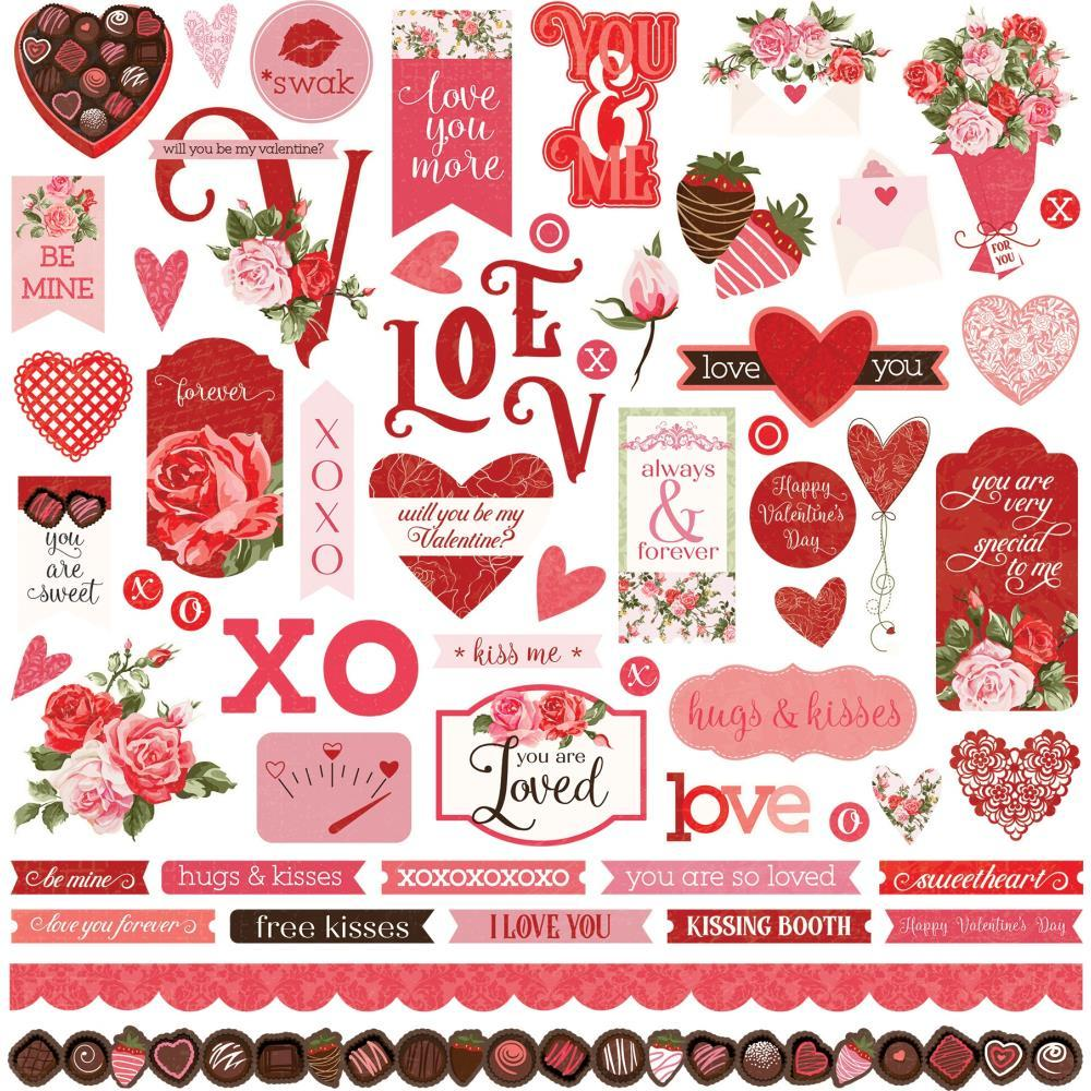 PhotoPlay Be Mine Stickers - 12in x 12in Elements