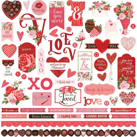 PhotoPlay - Be Mine Stickers 12in x 12in - Elements