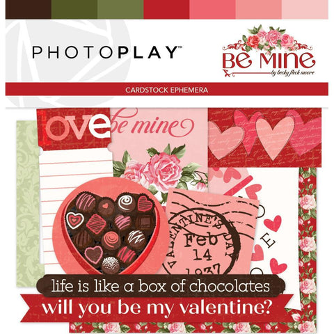 PhotoPlay - Be Mine Ephemera Cardstock Die-Cuts