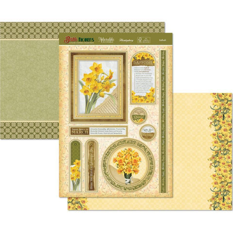 Hunkydory Birth Flowers A4 Topper Set - Daffodil
