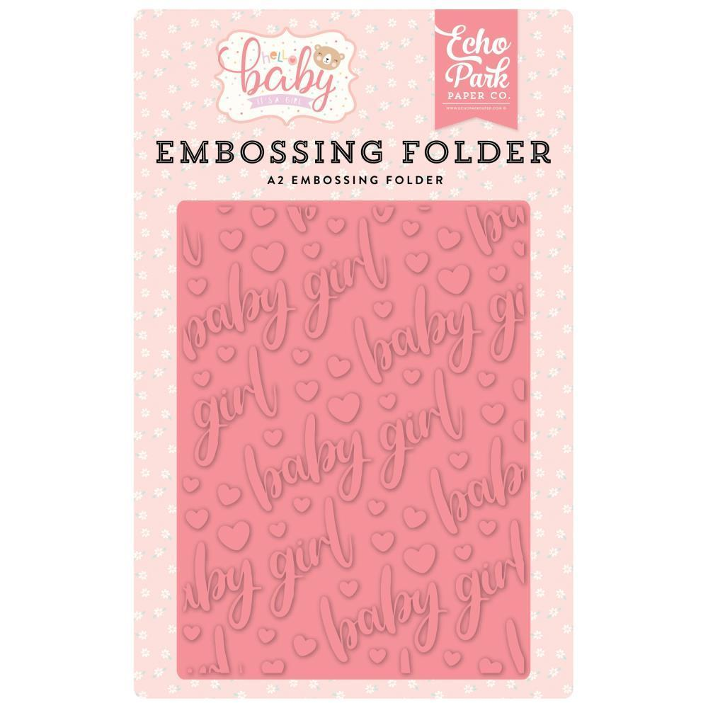 Echo Park Embossing Folder A2 - Baby Girl