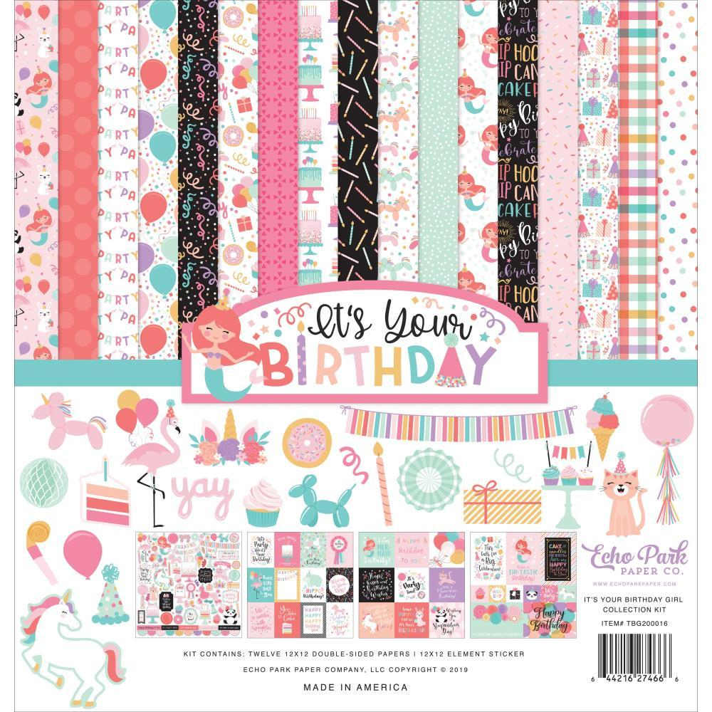 Echo Park Collection Kit 12in x 12in - It's Your Birthday, Girl