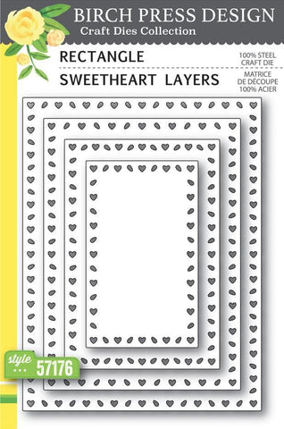 Birch Press Design Dies - Rectangle Sweetheart Layers