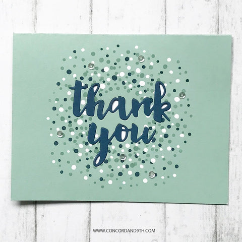 Concord & 9th Clear Stamps 4x4inch - Bitty Burst Thank You