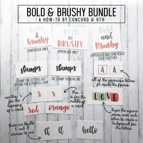 Concord & 9th Clear Stamps 4x8 inch - Bold & Brushy Uppercase