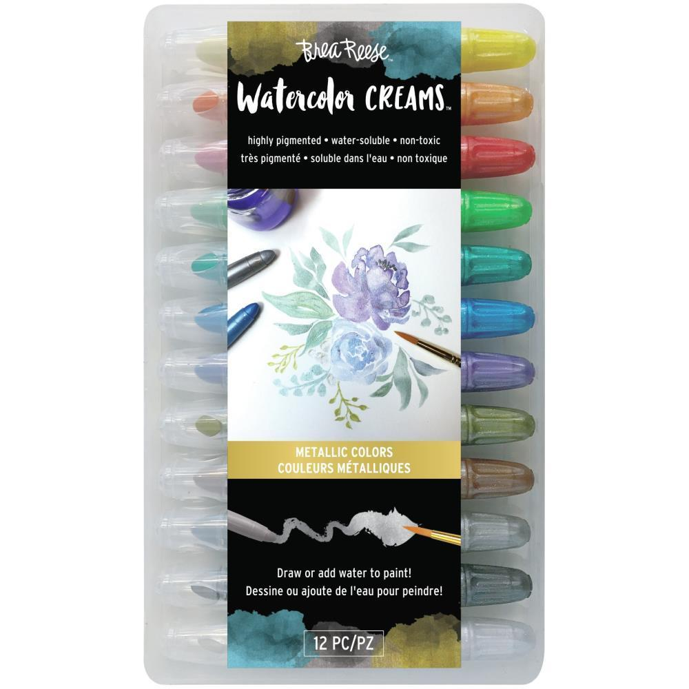 Brea Reese Watercolour Creams 12 pack - Metallic Colours