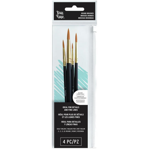 Brea Reese Paint Brush Set Round 4 pack