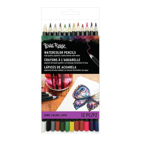Brea Reese Watercolour Pencils - Jewel 12 Pack