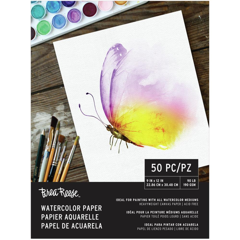 Brea Reese Watercolour Paper Pad 9x12 inch 50 Sheets