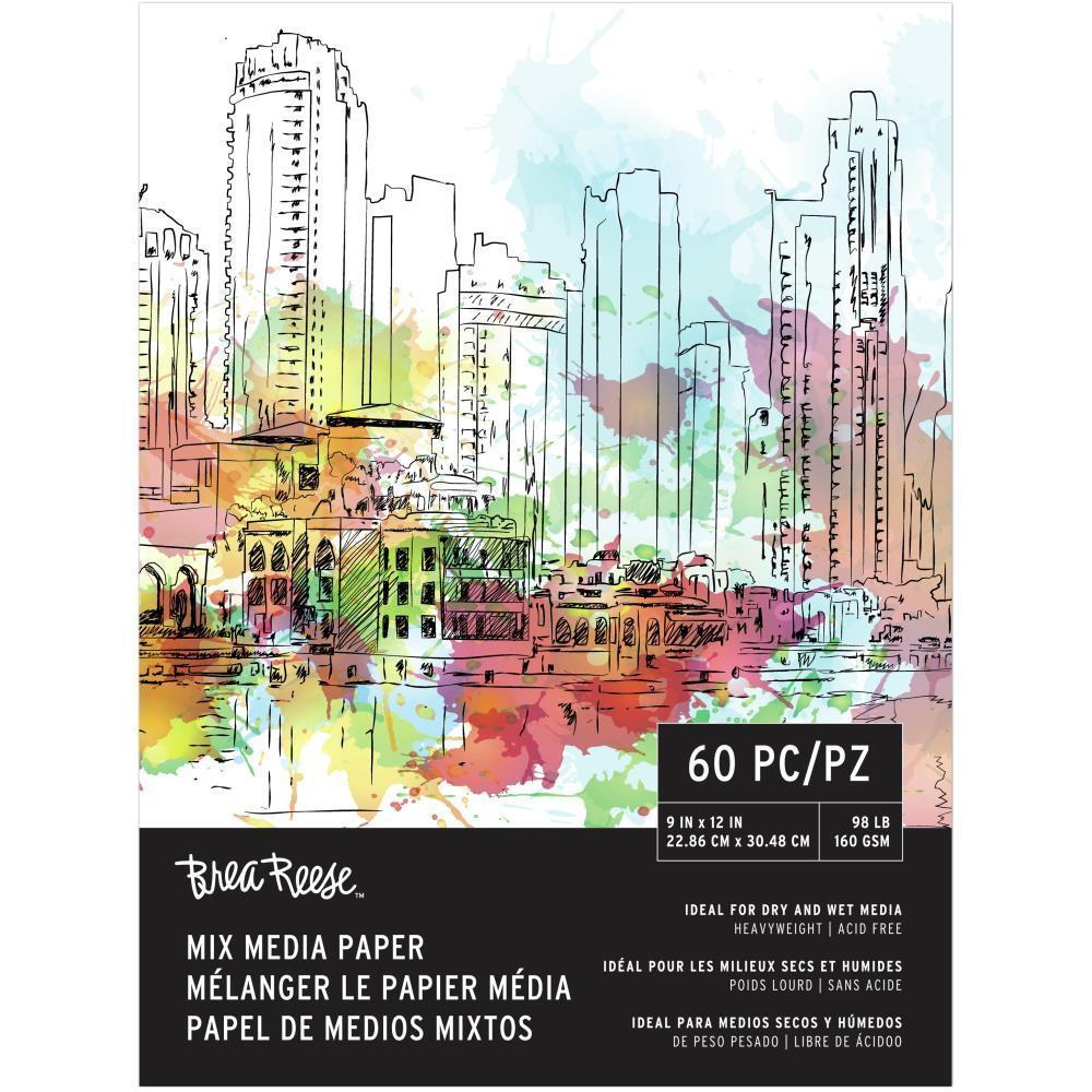 Brea Reese - Mixed Media Paper Pad 9x12 inch 60 Sheets