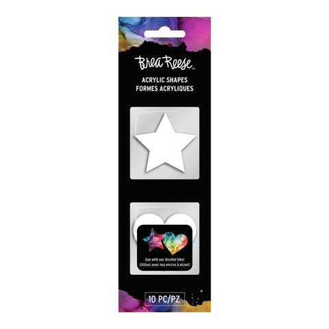 Brea Reese Acrylic Shapes - White - Stars and Hearts