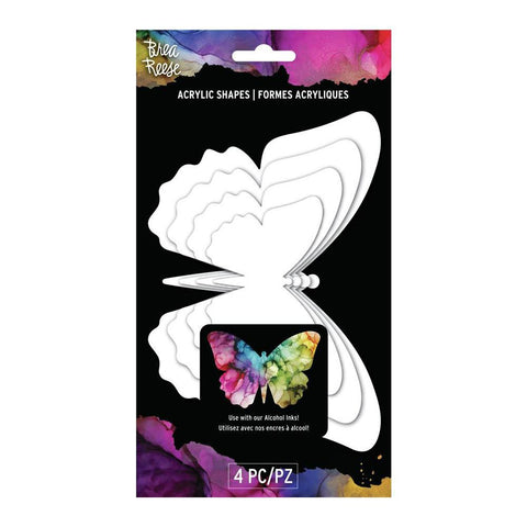 Brea Reese Acrylic Shapes - White - Butterfly
