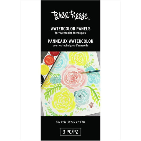 Brea Reese Watercolour Panels 5 x7 inch 3 pack White