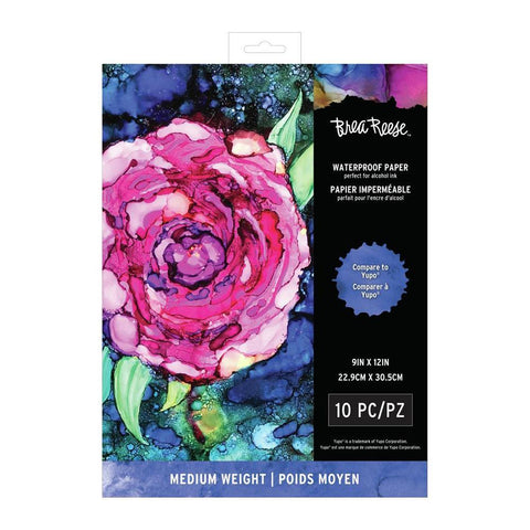 Brea Reese Waterproof Paper, White 9 x 12 inch - Medium - 10 Pack