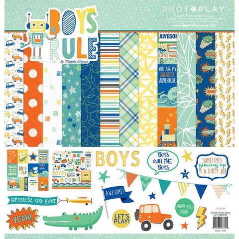 Photo Play Collection Pack 12x12 inch - Boys Rule