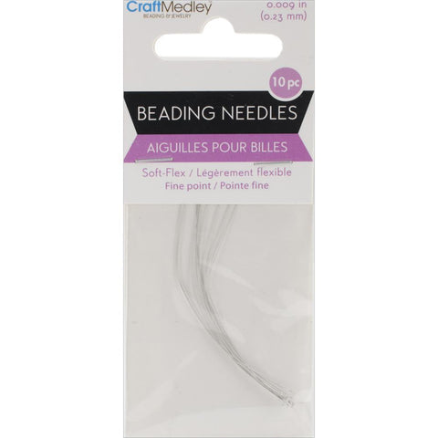 Multicraft Imports - Soft-Flex Beading Needles Fine Point .23mm 10 pack