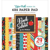 Echo Park D/S Paper Pad 6x6 inch 24 pack - Back To School