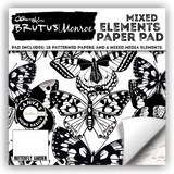 Brutus Monroe Single-Sided Paper Pad 6X6 24 pack Mixed Elements Butterfly Garden