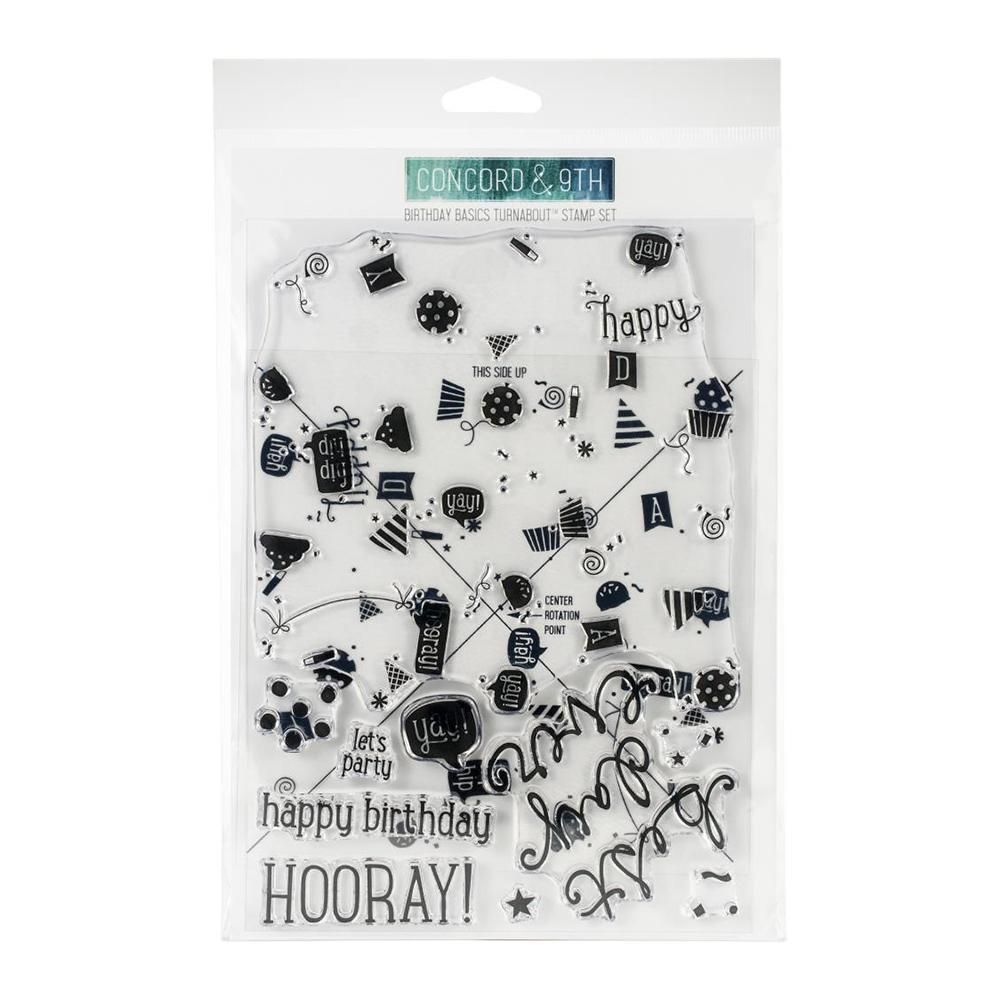 Concord Amp 9th Clear Stamps 6x8 Birthday Basics Turnabout