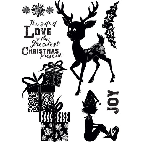 Crafters Companion Clear Stamps 4.1 inchX5.8 inch - Christmas Love