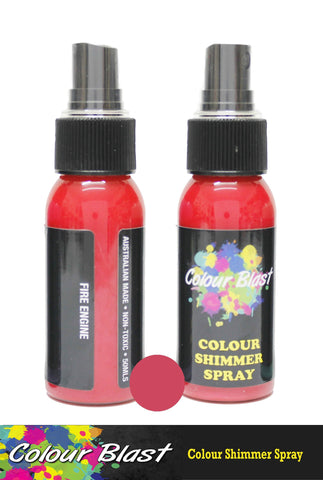 Colour Blast - Colour Shimmer Spray - Fire Engine