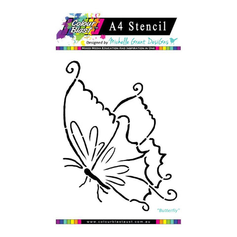 Colour Blast - Flight of Fantasy Stencil Collection A4 - Butterfly