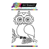 Colour Blast - Flight of Fantasy Stencil Collection A4 - Owl