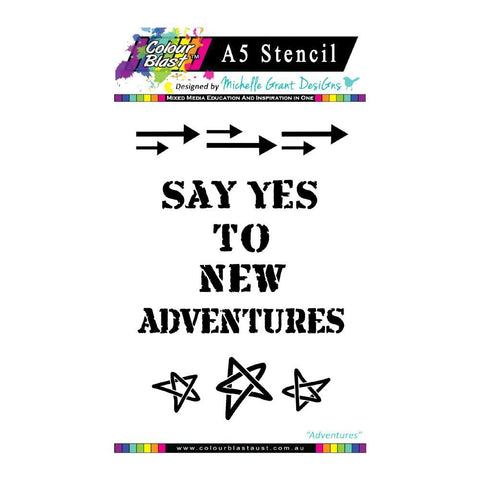 Colour Blast - Going my way Stencil Collection - Adventrues A5