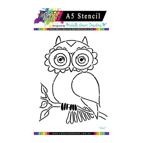 Colour Blast - Flight of Fantasy Stencil Collection A5 - Owl