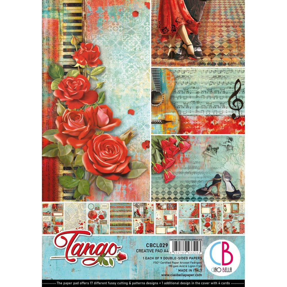 Ciao Bella Double-Sided Creative Pack A4 9 pack - Tango, 9 Designs/1 Each