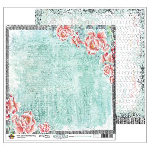 Colour Blast - Spread Your Wings Collection - D/Sided 12 x 12 inch Designer Paper  - Peony Dreams