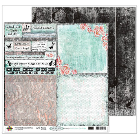 Colour Blast - Spread Your Wings Collection - D/Sided 12 x 12 inch Designer Paper - Earth Angels
