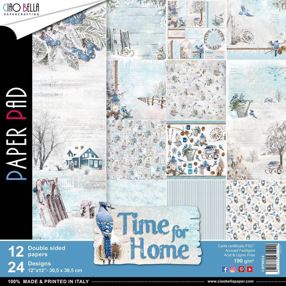 Ciao Bella - Double-Sided Paper Pack 90lb 12 inchX12 inch 12 pack - Time For Home, 12 Designs/2 Each