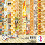 Ciao Bella Double-Sided Paper Pack 90lb 6in x 6in 24 pack - The Seventies, 12 Designs/2 Each