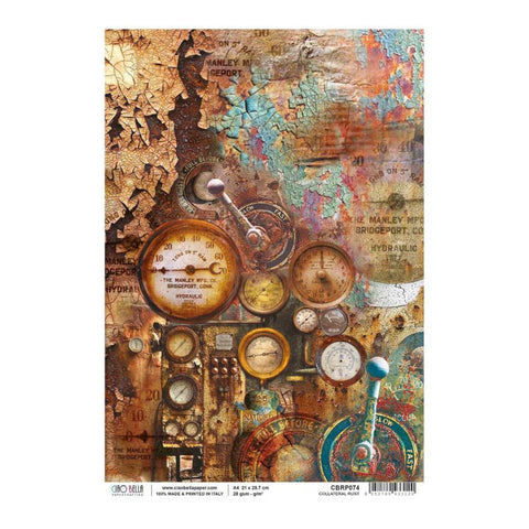 Ciao Bella - Decoupage Rice Paper A4 - Collateral Rust