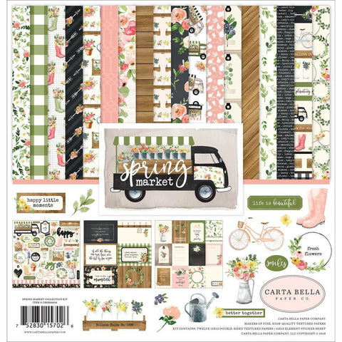 Carta Bella Collection Kit 12x12 inch - Spring Market