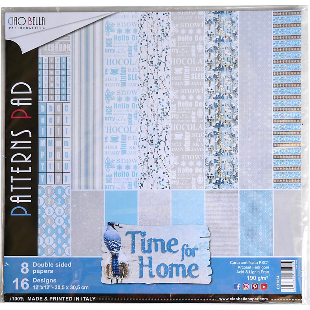 Ciao Bella - D/Sided Paper Pack 90lb 12x12 inch 8 pack - Time For Home