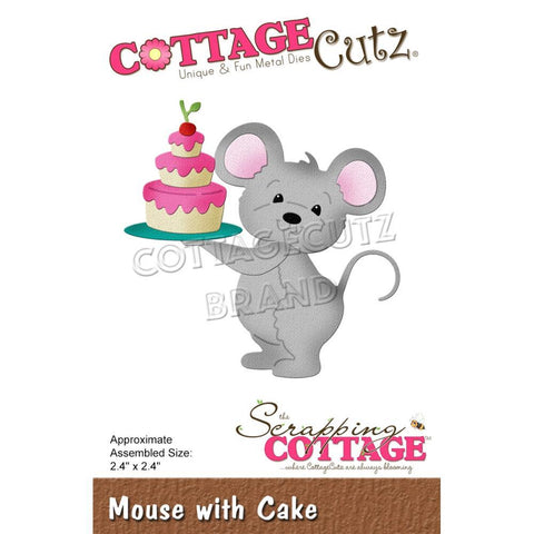 CottageCutz Dies - Mouse with Cake