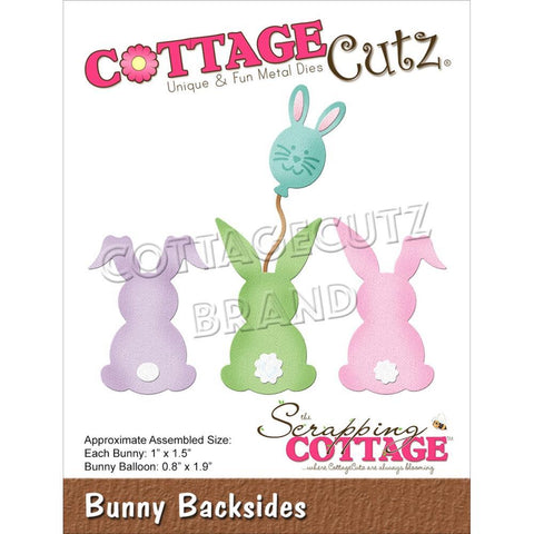 CottageCutz Dies - Bunny Backsides .8in To 1.9in