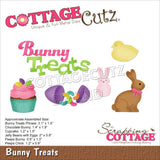 CottageCutz Dies - Bunny Treats .9in To 3.1in