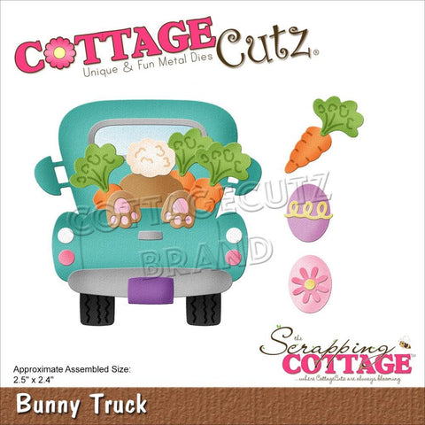CottageCutz Dies - Bunny Truck 2.5in x 2.4in