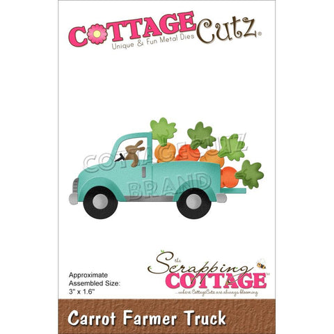 CottageCutz Dies - Carrot Farmer Truck 3in x 1.6in