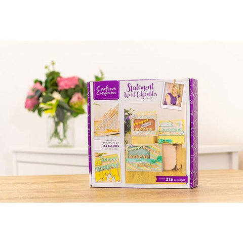 Crafters Companion Craft Box Kit - Statement Word Edgeables